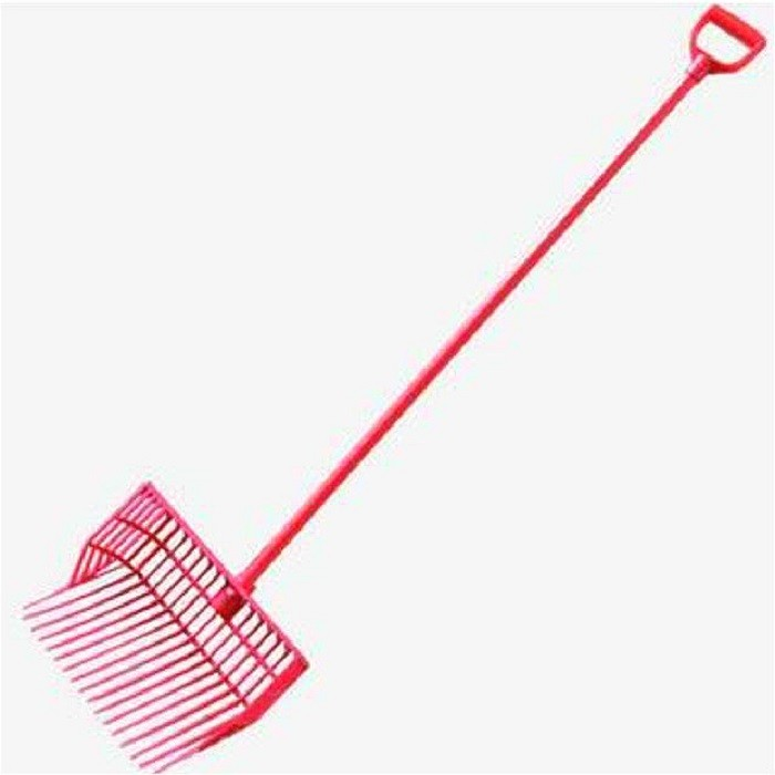 ABS Plastic Horse Manure Fork Head With 120CM Long D Shape Handle